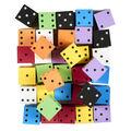 Koplow Games Foam Spot Dice, 2\u0022, Assorted Colors, Bag of 36