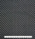 Specialty Cotton Diamond Eyelet Fabric-Black