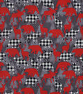 Snuggle Flannel Fabric-Buffalo Check Animals