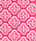 Snuggle Flannel Fabric -Floral Dasmask Pink