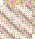 Fairy Tales Double-Sided Cardstock 12\u0022X12\u0022-Rainbow Ribbons