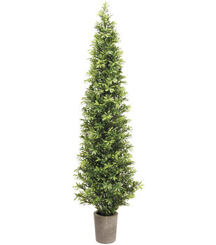 Podocarpus Topiary Tree in Cement Pot 35''