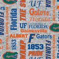 Florida Gators Fleece Fabric-Heather Verbiage