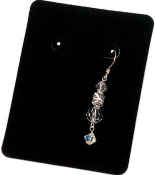 Darice Velvet Earring Display Cards Black