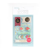 DCWV Home 18 Pack Letter Board Icons-Planning, , hi-res