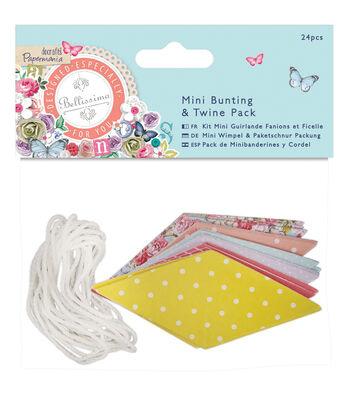 Papermania Bellissima Mini Bunting & Twine Pack