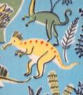 Anti-Pill Fleece Fabric -Prehistoric Dinos