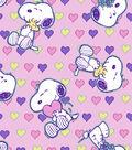 Valentine\u0027s Day Cotton Fabric-Snoopy Love