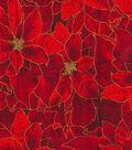 Christmas Cotton Fabric 44\u0022-Packed Poinsettias