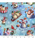 Holiday Cotton Fabric -Snow Celebration