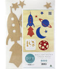 Beyond The Page MDF Outer Space Wall Art-5.25\u0022X17\u0022
