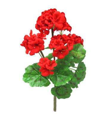 Fresh Picked Spring 18.5'' Geranium Bush-Red