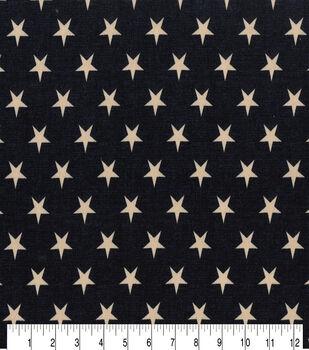 Patriotic Cotton Fabric 43''-Rustic Stars on Blue