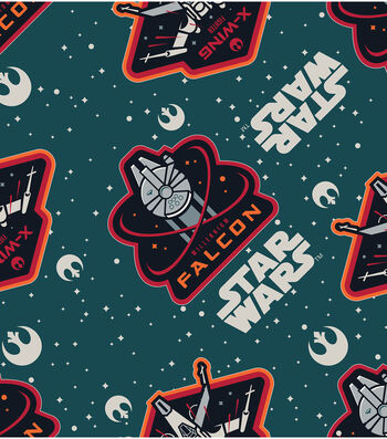 """Star Wars: The Force Awakens Flannel Fabric 42""""-Ships"""