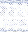 Gertie Collection Laser Cut Eyelet Fabric -Navy & White