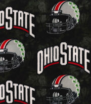 "Ohio State Fleece Fabric 58""-Helmets On Black, , hi-res"