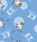 The Extra Terrestrial Flannel Fabric 42\u0022-Bicycle Toss
