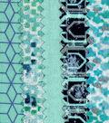 Mini Charm Cotton Fabric Pack 2.5\u0027\u0027x2.5\u0027\u0027-Teal