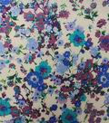 Warm Weather Apparel Fabric-Lawn Floral Spray Purple
