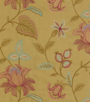 "Williamsburg Upholstery Fabric 52""-Kerala Emb/Prune"
