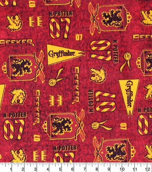 Harry Potter Cotton Fabric-Gryffindor Pride