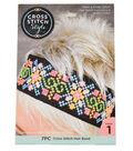 Cross Stitch Style Cross Stitch Hair Band
