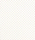 Quilter\u0027s Showcase Cotton Fabric -Orange Swiss Dots on White