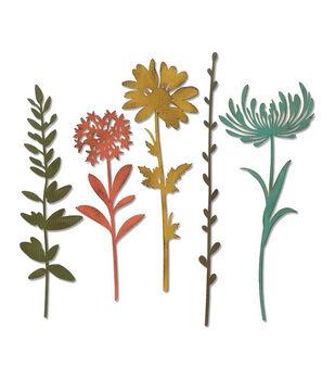 Sizzix Thinlits Dies By Tim Holtz-Wildflower Stems #1