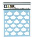 Clear Scraps Stencils 6\u0022X6\u0022-Fish Scales