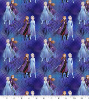 Disney Frozen 2 Cotton Fabric-Elsa & Anna Tossed Digital, , hi-res