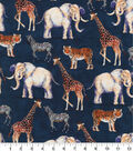 Novelty Cotton Fabric 44\u0027\u0027-Safari Animals on Navy