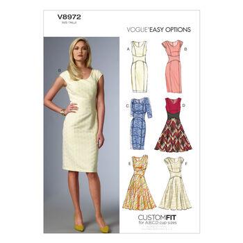 Vogue Patterns Misses Dress-V8972