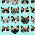 Snuggle Flannel Fabric-Floral Kitten Crown