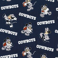 Dallas Cowboys Cotton Fabric-Mickey & Minnie Mouses
