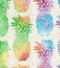 Novelty Cotton Fabric 43\u0022-Multi Pineapples