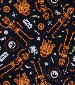 Halloween Star Wars R2-D2 & C-3PO Cotton Fabric -Glow