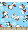 Peanuts Print Fabric-Snoopy Flying Ace