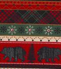 Snuggle Flannel Fabric -Woodland Animals Striped