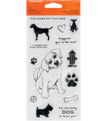 Fiskars Clear Stamps-Barking Mad