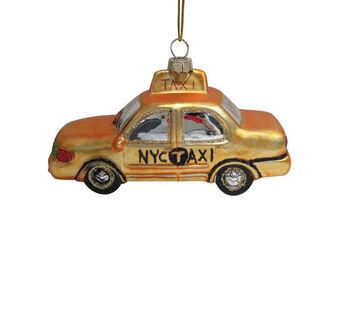 Handmade Holiday Christmas Taxi Ornament