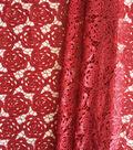Casa Embellish Gardinia Rose Sequin Fabric 49\u0027\u0027-Tango Red