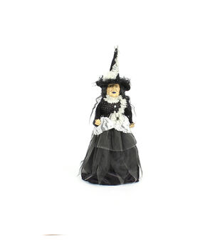 Maker's Halloween Standing Witch Doll in Vintage Dress