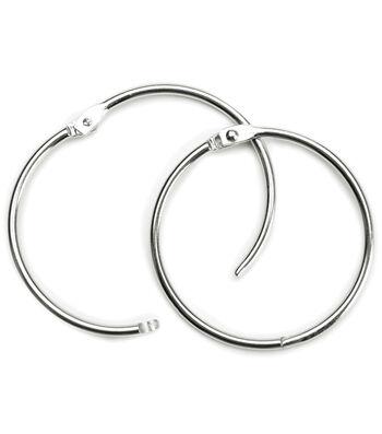"""Baumgartens 3"""" Book Ring 2 Pack-Silver"""