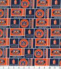 Auburn University Tigers Cotton Fabric -Herringbone