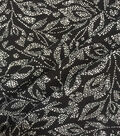 Apparel Knit Fabric 57\u0022-Black Dot Leaf