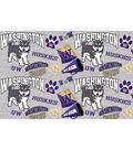 University of Washington Huskies Cotton Fabric-Collegiate Mascot