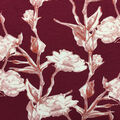 Knit Prints Rayon Spandex Fabric-Burgundy Floral Stems