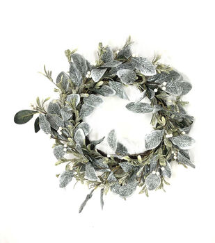 Handmade Holiday Christmas 24'' Magnolia Leaf & White Berry Wreath
