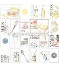 Alexandra Renke Cooking Paper 12\u0022X12\u0022-Cook Like... Cut-Aparts