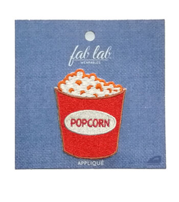 Fab Lab 3.5''x3.5'' Popcorn Iron-on Applique Patch